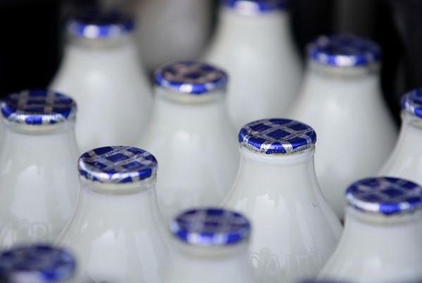 Milk bottle tops